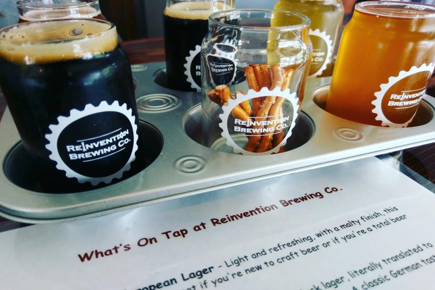 Reinvention Brewing Flight