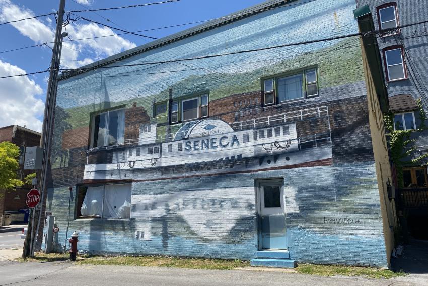 Seneca Steamer mural2011