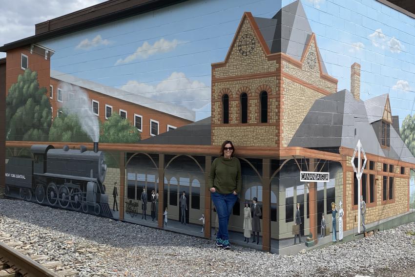 Train Station mural
