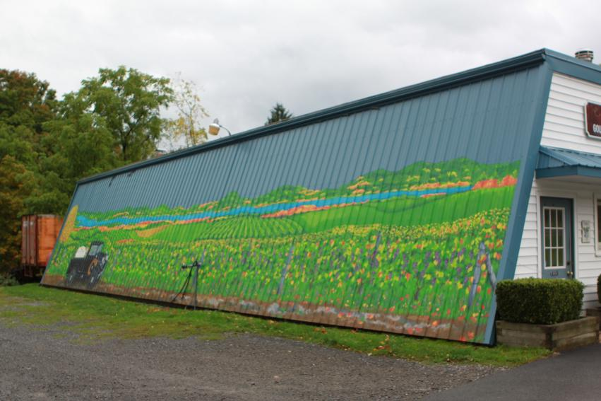 Arbor Hill Winery - Vineyards mural