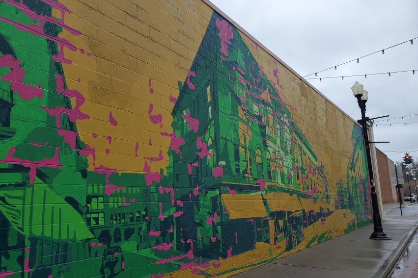 Linden Street Pultinas mural