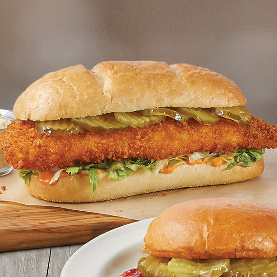 Nashville Hot Whale of a Cod sandwich