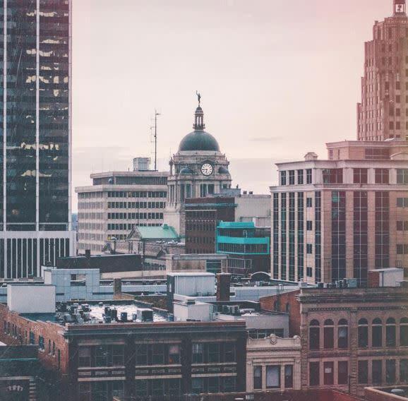 Adam Garland Instagram Photo - Fort Wayne, IN Skyline