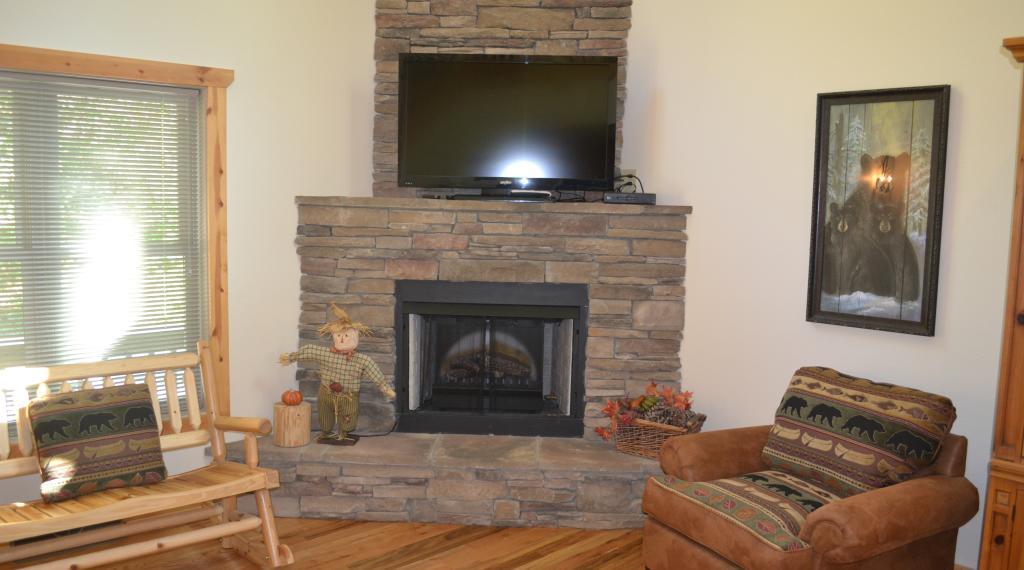 Living Room of Chimney Rock River Cabin
