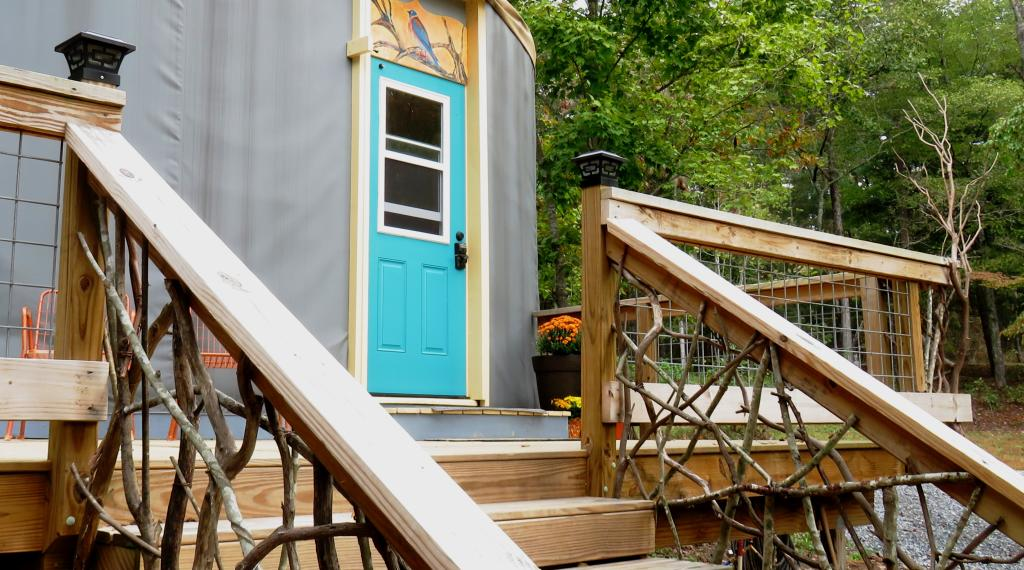 Entrance to The BlueBird Yurt