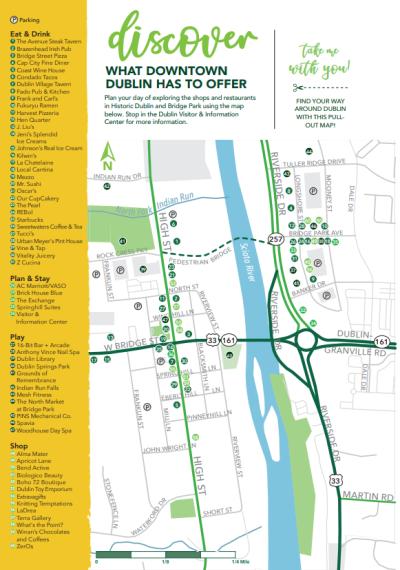 Downtown Dublin Map