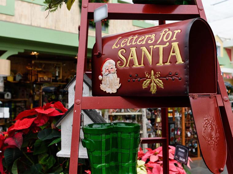 Mailbox for Santa at the Christmas shop at DeWayne's in Selma, NC.