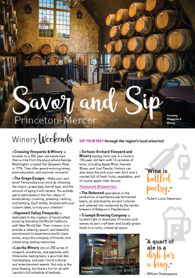Sip savor visitors guide page