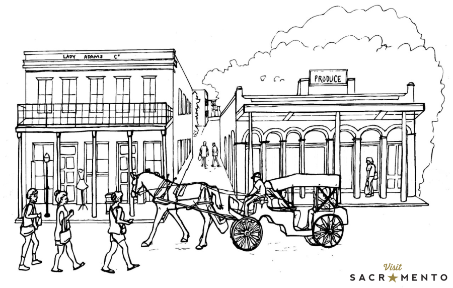 Old Sacramento Waterfront Coloring Page