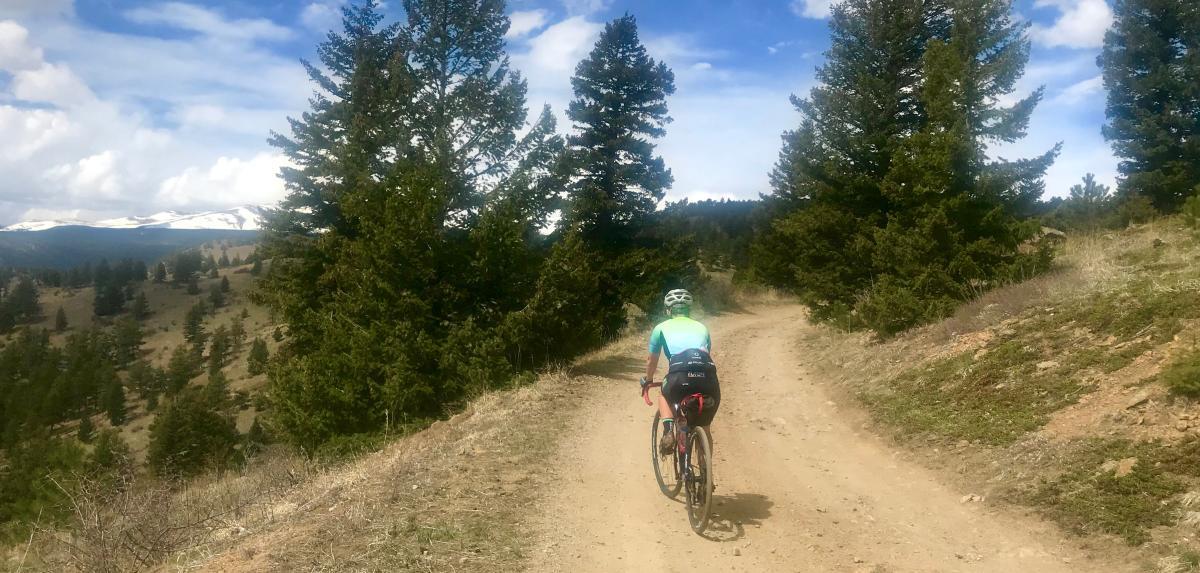Person Gravel Biking Fourmile Canyon