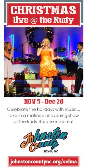 Digital ad for Live @ The Rudy Christmas Show in Selma, NC.