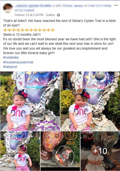 Stella's Facebook Post