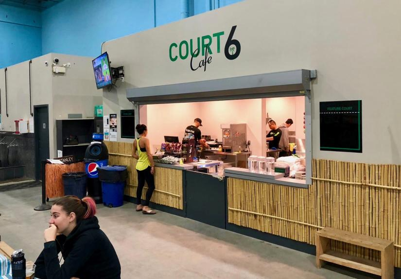 The cafe counter at 6Pack Indoor Beach