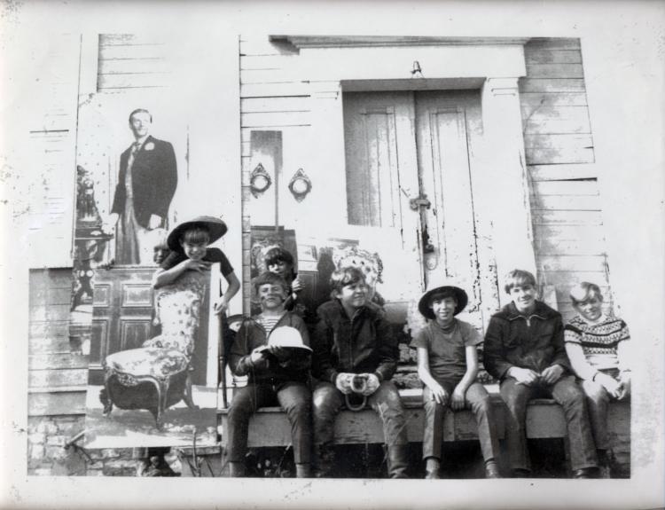 Ivan Albright and family outside of original Albright Studio