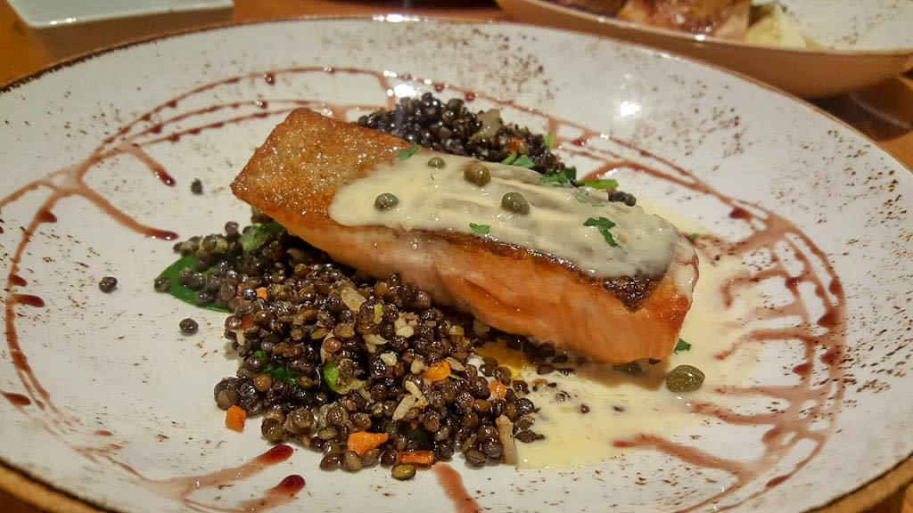 Steelhead Salmon On Plate at EATS Kitchen and Bar