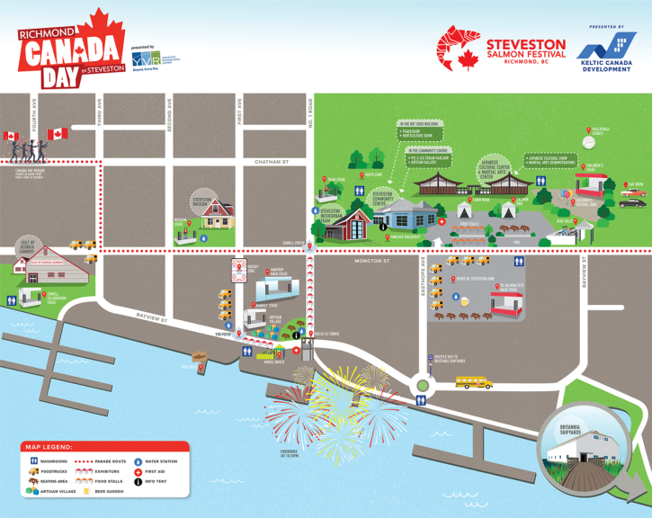 2018 Canada Day Map