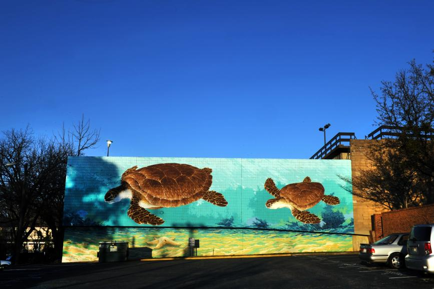 Sea Turtles mural by Michael Brown.JPG