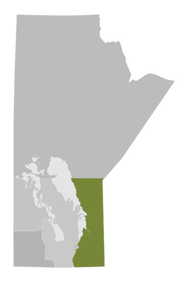 Manitoba's Eastern Region Map
