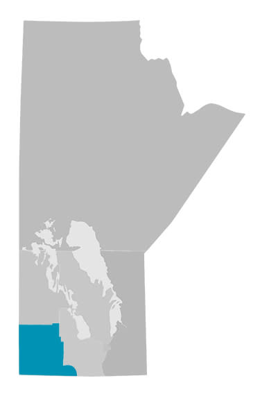 Manitoba's Western Region Map