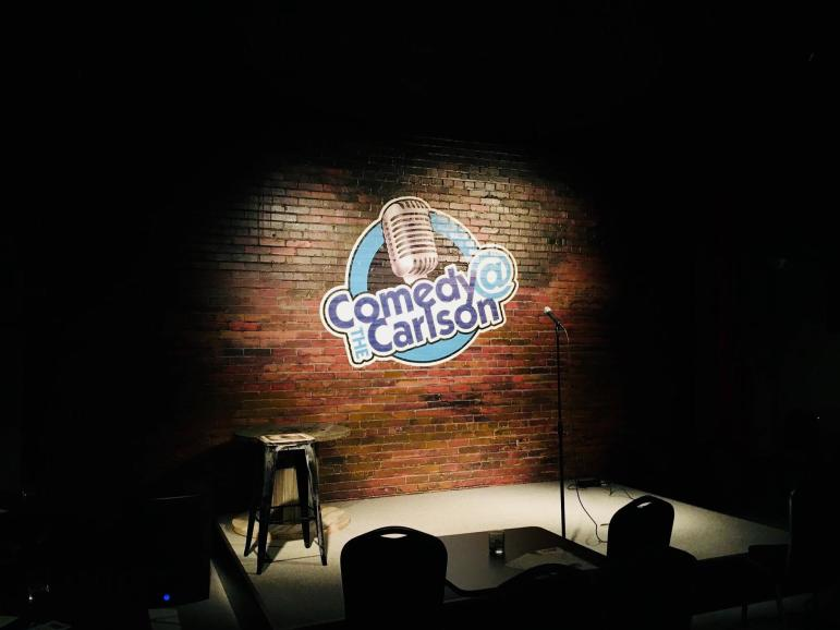 Stage at Comedy at the Carlson