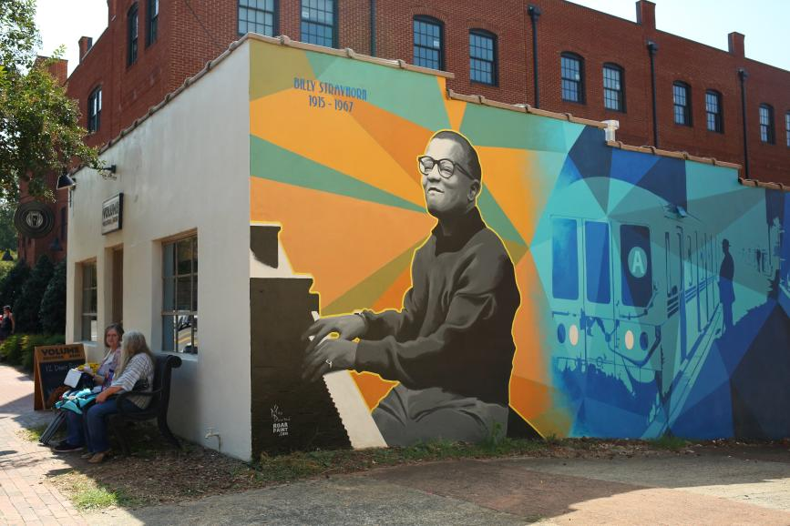 Take the 'A' Train - Billy Strayhorn Mural, Hillsborough