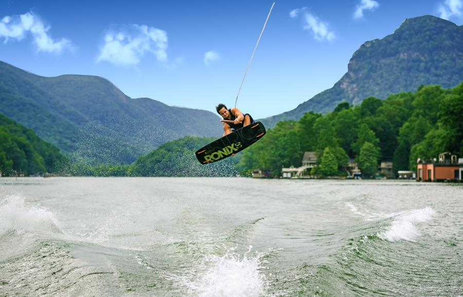 Wakeboarding on Lake Lure