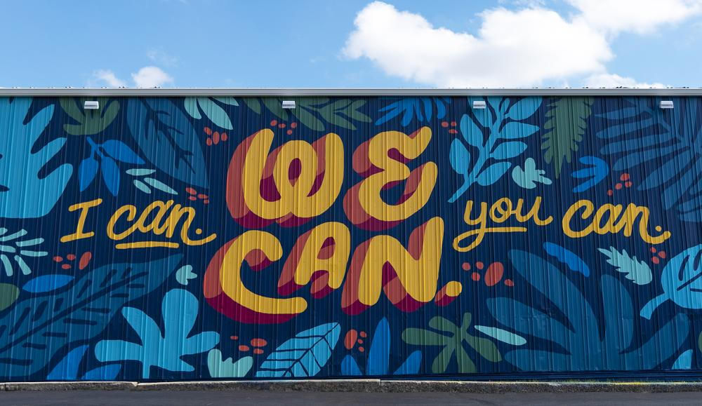 We Can mural in downtown Fort Wayne from artist Matt Plett