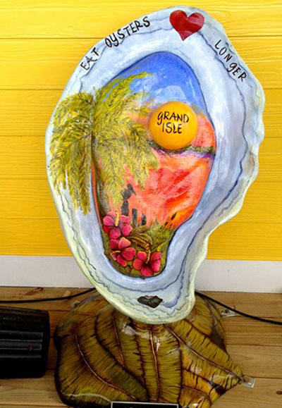 Grand Isle Oyster Sculpture