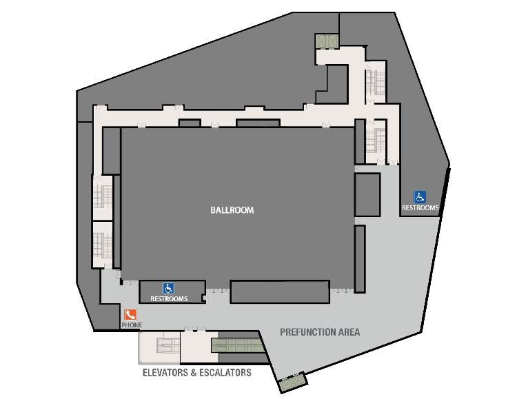ADA Ballroom Floor Plan