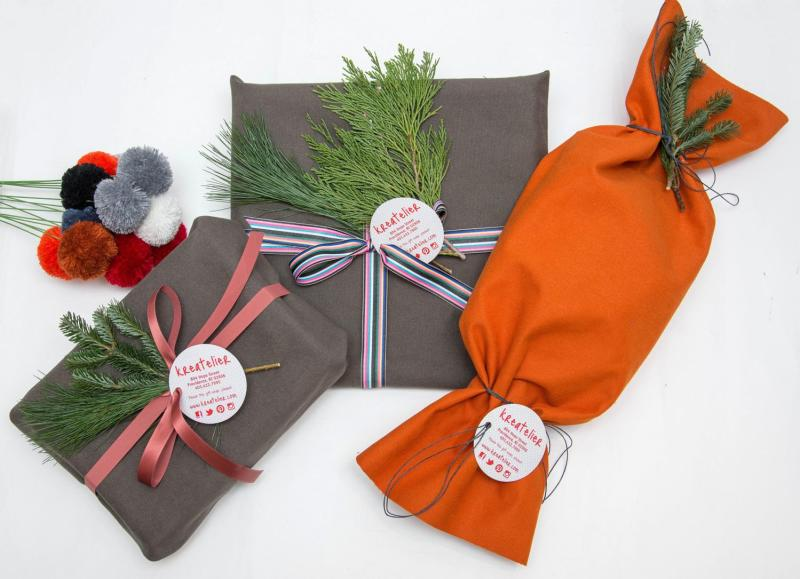 Fabric Gift Wrapping at Art Providence