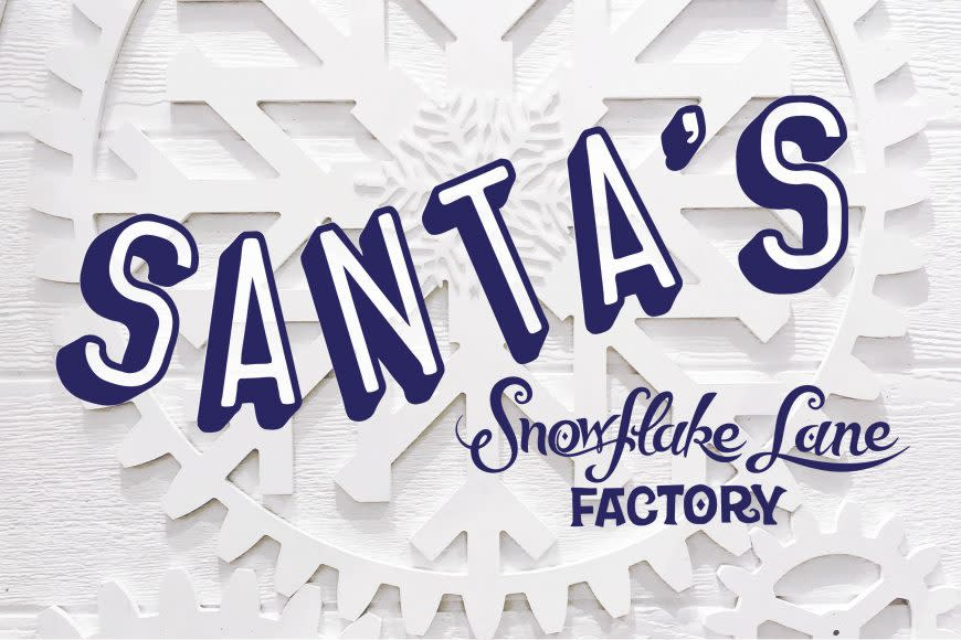 Santa's Snowflake Lane Factory