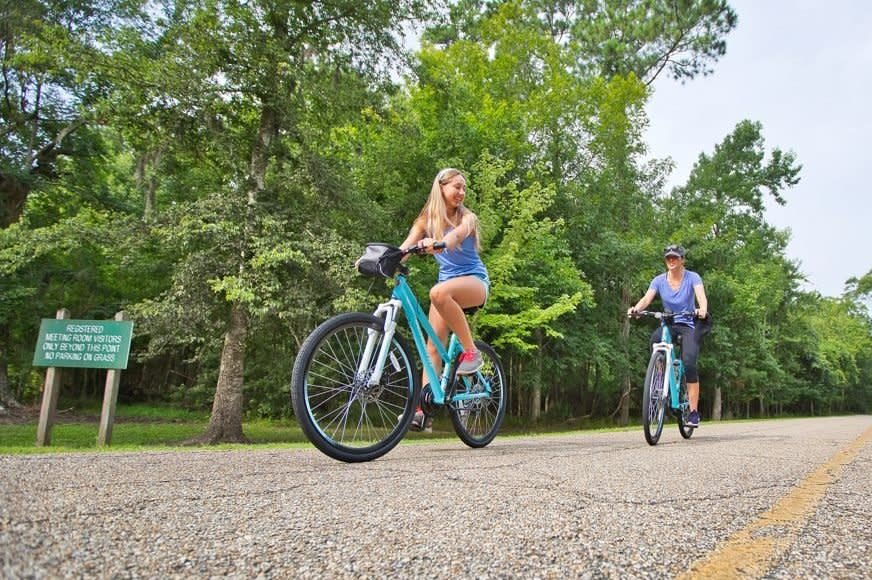 Cyclers in Fontainebleau State Park - Reader's Digest July 2020