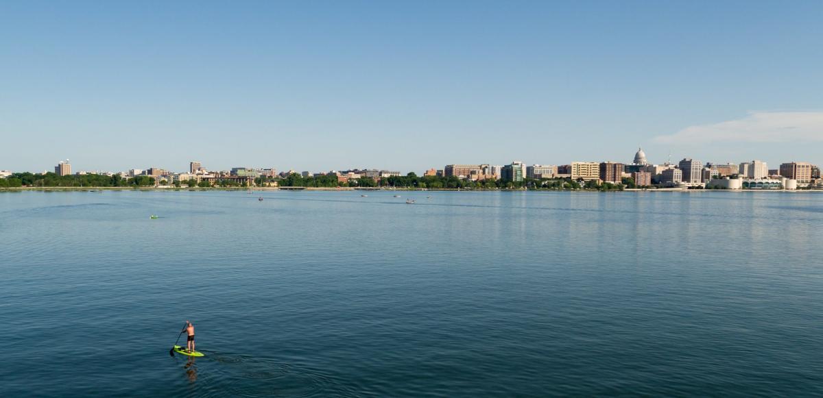 Madison Skyline from Lake Monona