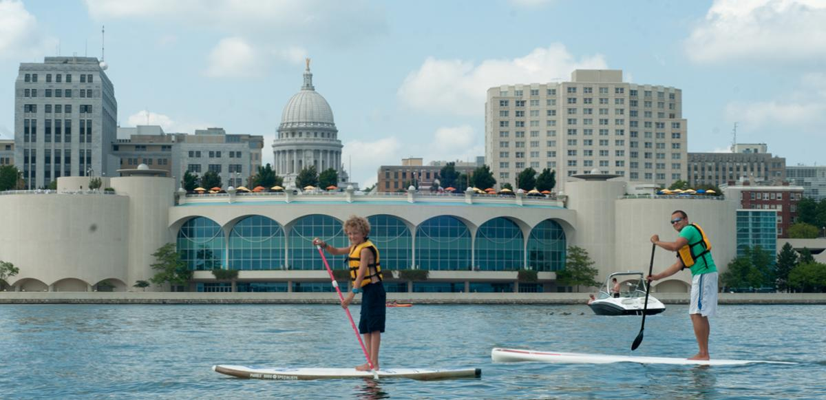 Stand Up Paddle Boarding - Lake Monona