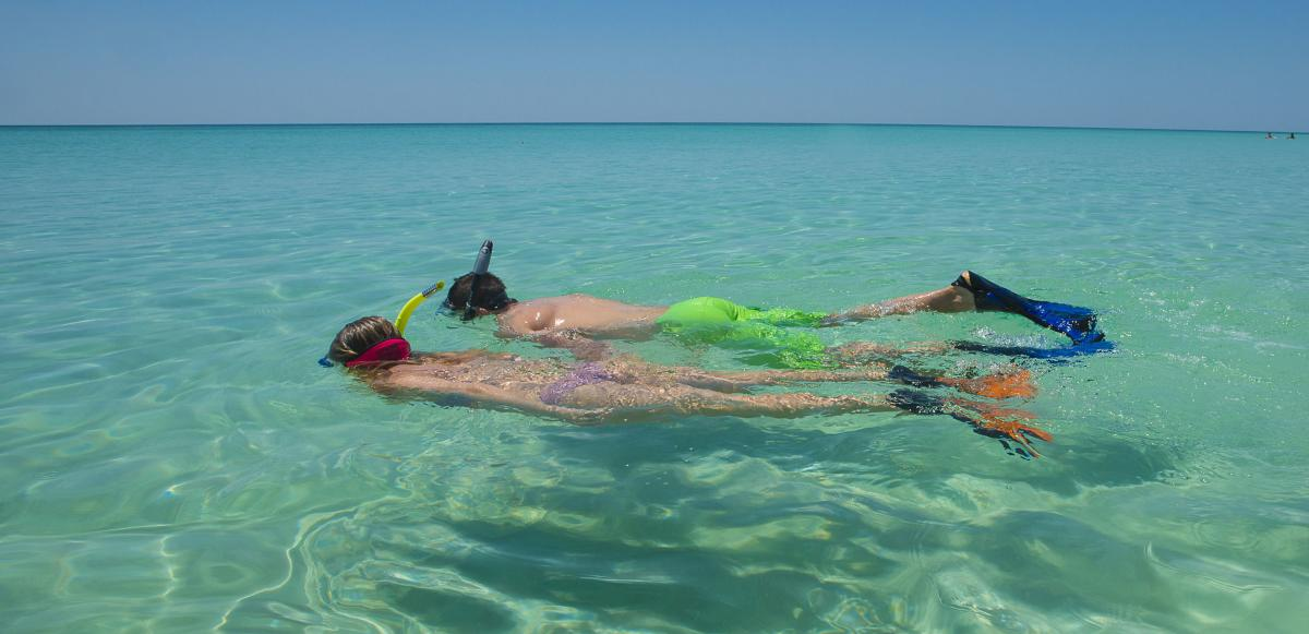 Snorkeling at the beach