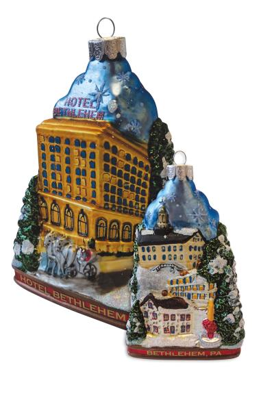 Christmas Ornament from Hotel Bethlehem | Discover Lehigh Valley, PA
