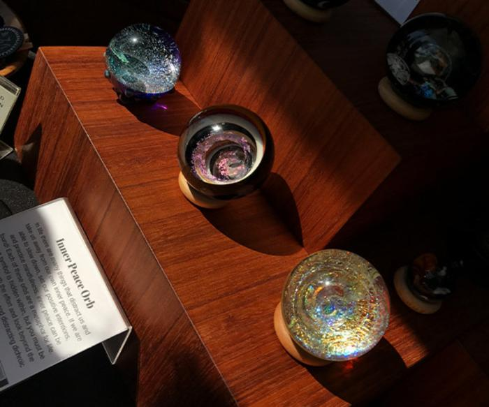 Chesterton's European Market glass orbs