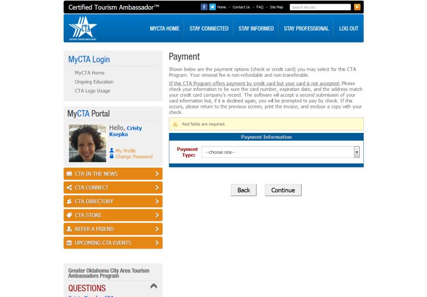 Screen grab of CTAnetwork.com