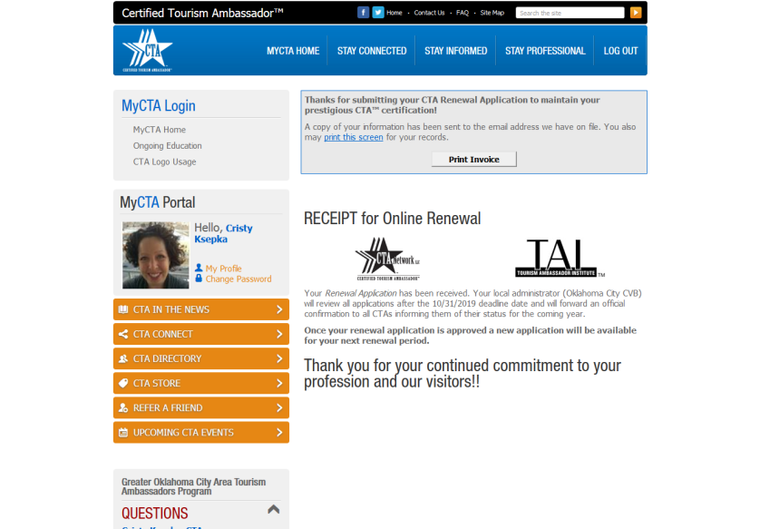 Screengrab from CTAnetwork.com
