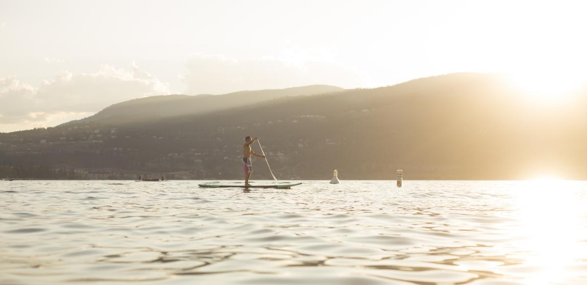 Paddle Boarding Okanagan Lake