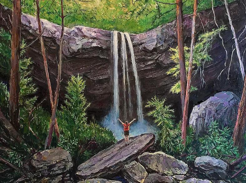 Cucumber Falls Painting