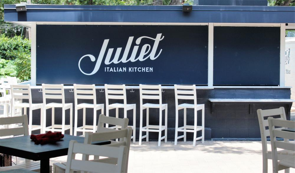 Patio Bar at Juliet Italian Kitchen in Austin Texas