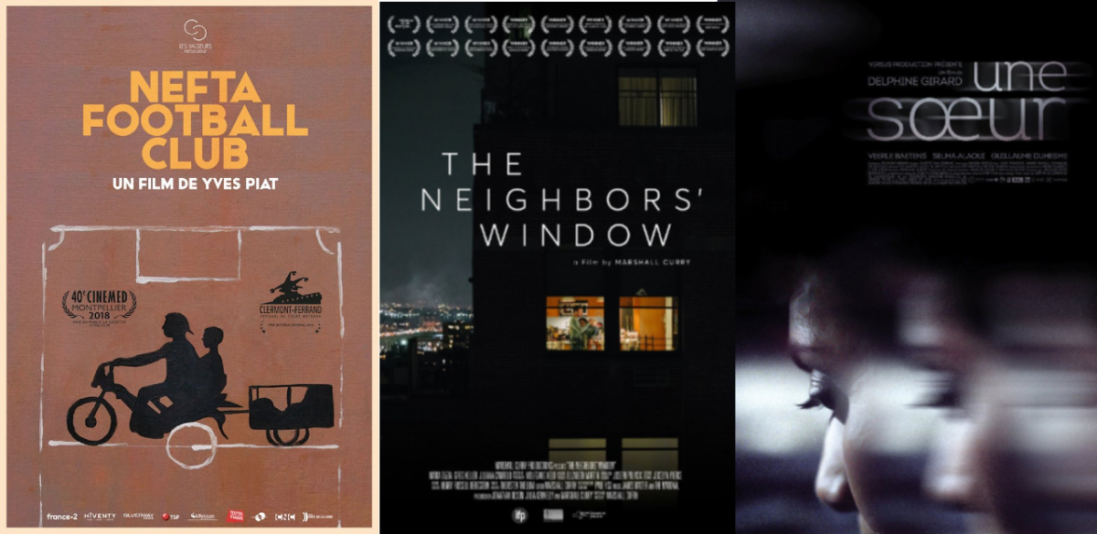 The Neighbors Window, Nefta Football Club and A Sister Movie Posters