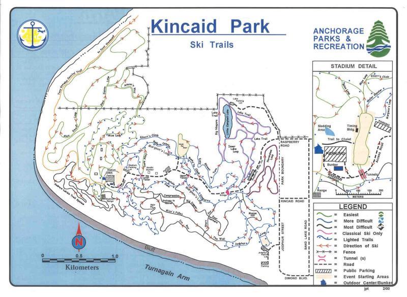 Kincaid Park ski trail map