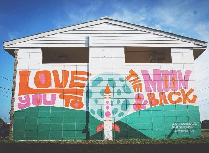 Love you to the Moon and Back Mural