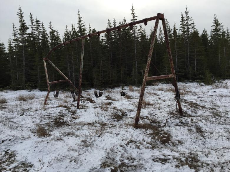 Abandoned playground in Churchill, Manitoba