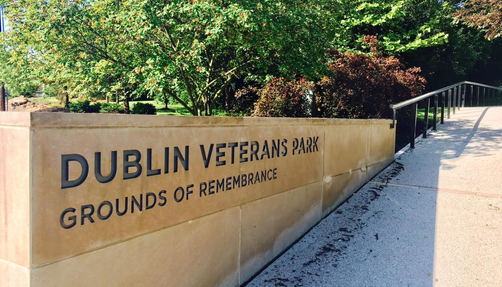 Dublin Veteran's Park and Ground of Remembrance Sign