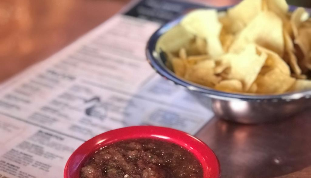 Local Cantina chips and salsa
