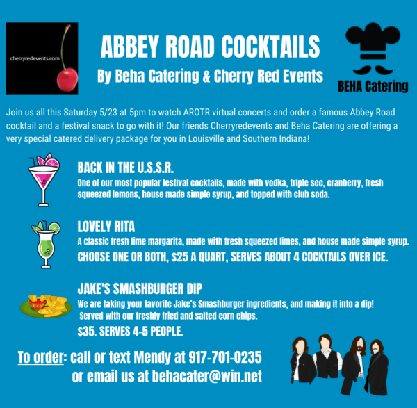 Abbey Road on the River AROTR Cocktails