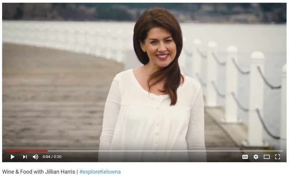 Screen Shot of Jillian Harris Advertisement